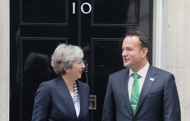 Theresa May with Leo Varadkar