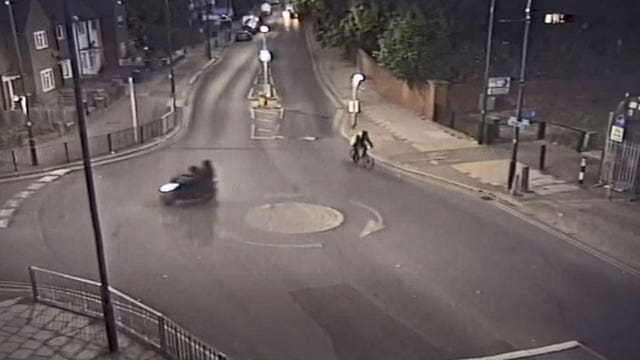 CCTV footage of moped