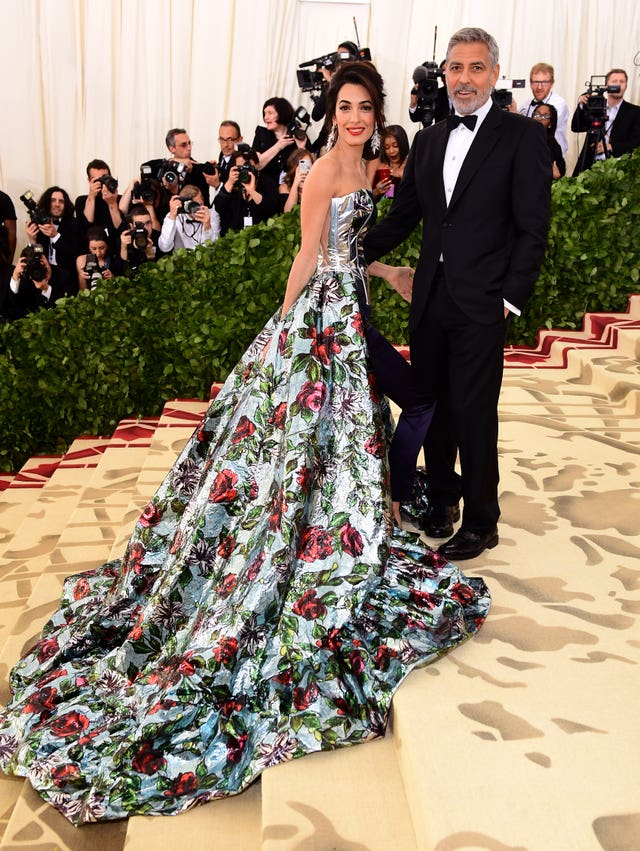 859956d07a Amal and George Clooney attending the Metropolitan Museum of Art Costume  Institute Benefit Gala (Ian