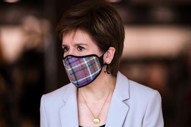 Nicola Sturgeon visit to retail park