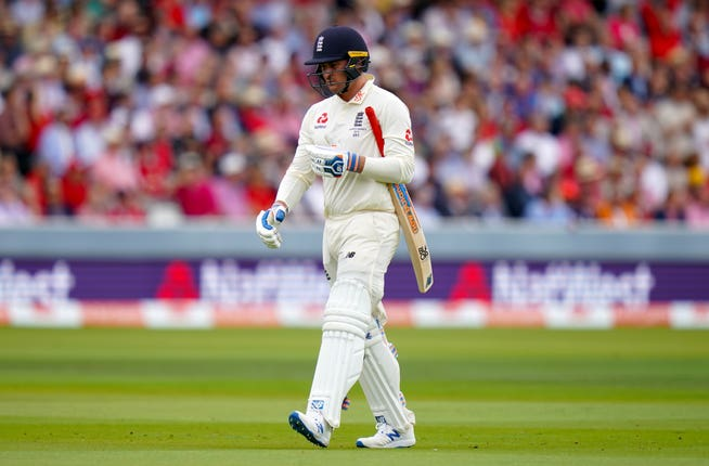 England's Jason Roy was dismissed for a duck