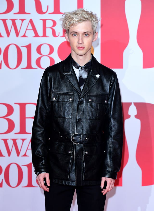 Troye Sivan attending the Brit Awards at the O2 Arena, London (Ian West/PA)