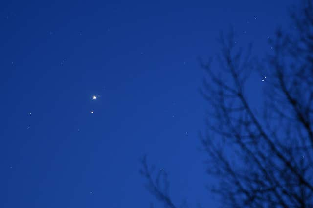 Jupiter and Mars planetary conjunction