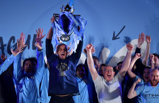 Manchester City were crowned Premier League champions for the second successive season on Sunday