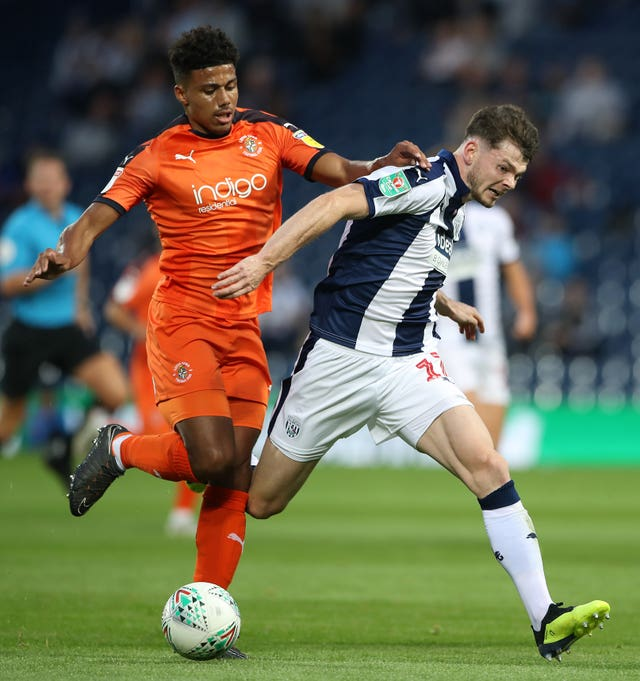 Burke has found himself sidelined at West Brom