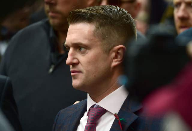 Former English Defence League leader Tommy Robinson