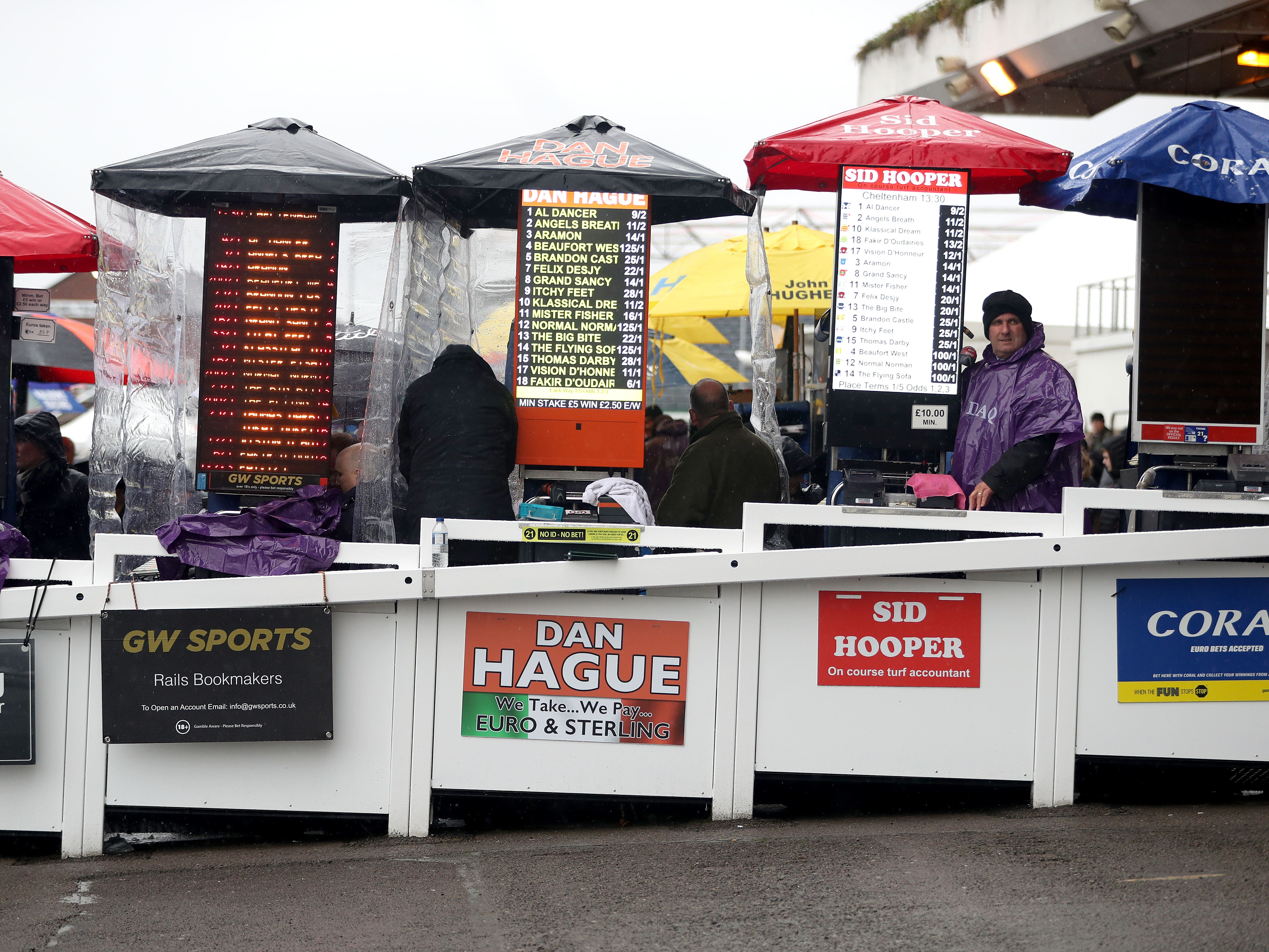 Coral and Ladbrokes betting ring pitches will no longer be seen on course (Simon Cooper/PA)