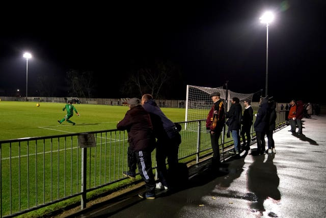 Fans were allowed into some non-league stadiums before the restrictions changed