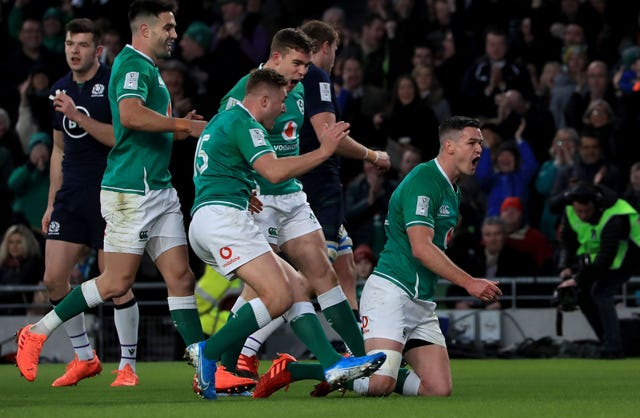 Ireland captain Johnny Sexton, who scored the opening try in February's win over Scotland, is set to return from injury