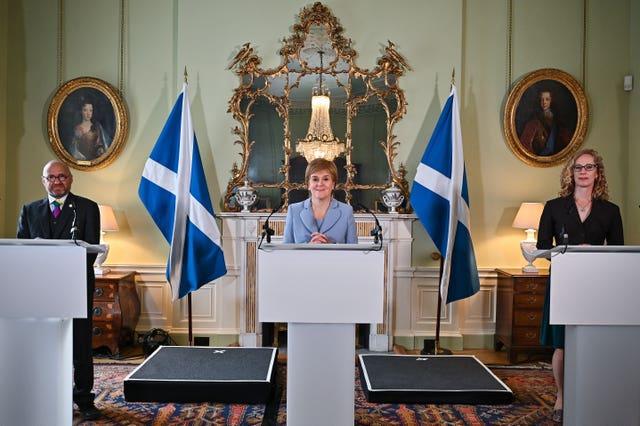 Scotland powersharing agreement