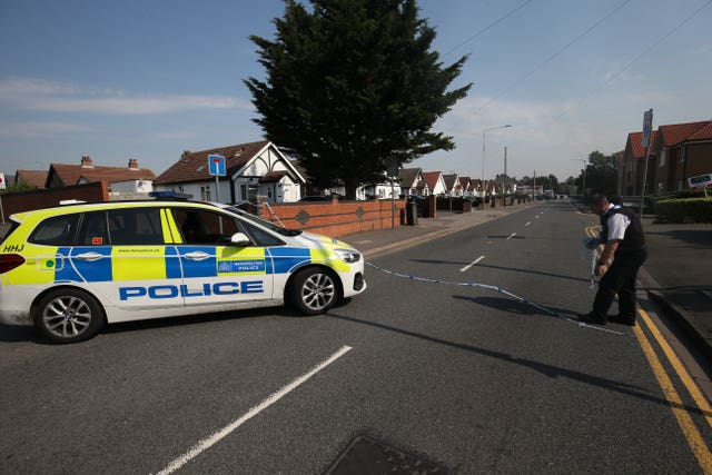 Police activity on Pield Heath Road, Uxbridge, west London