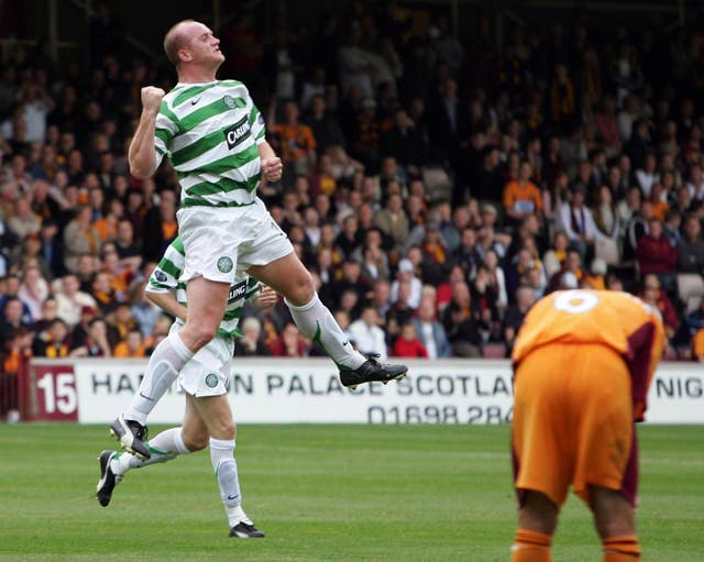 Celtic's John Hartson grabbed an opening-day hat-trick against Motherwell back in 2005