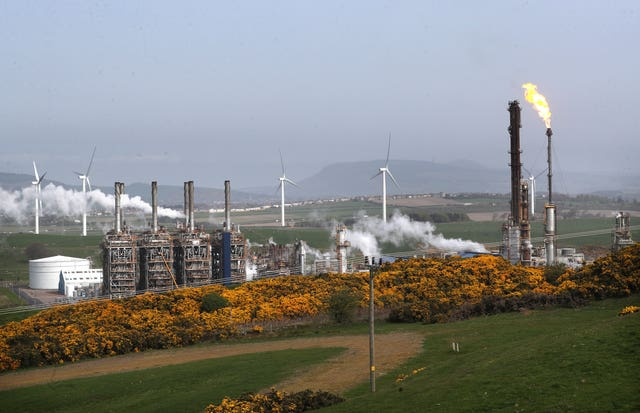 Flaring at Fife Ethylene Plant