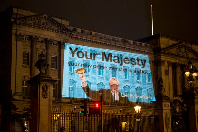 Boris Johnson projection