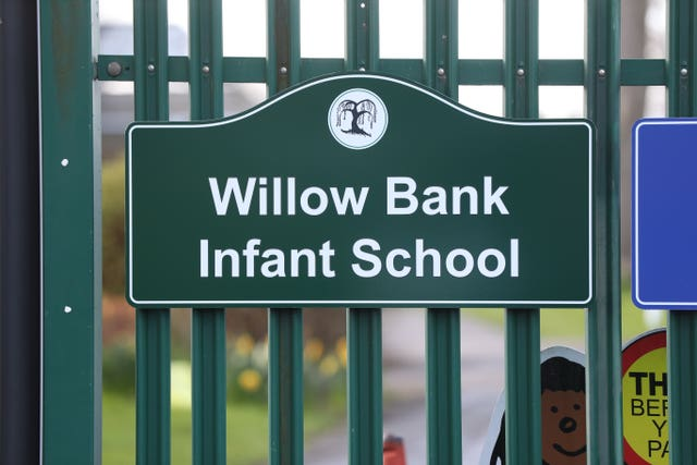 Willow Bank Infant School in Reading, Berkshire (Jonathan Brady/PA)
