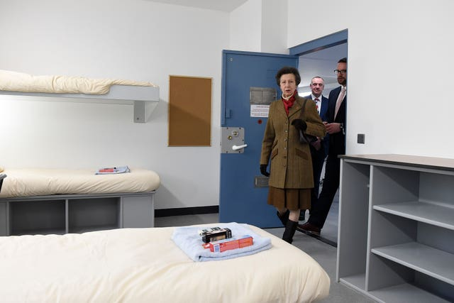 The Princess Royal on a tour of Davis House at HMP Maghaberry in Lisburn