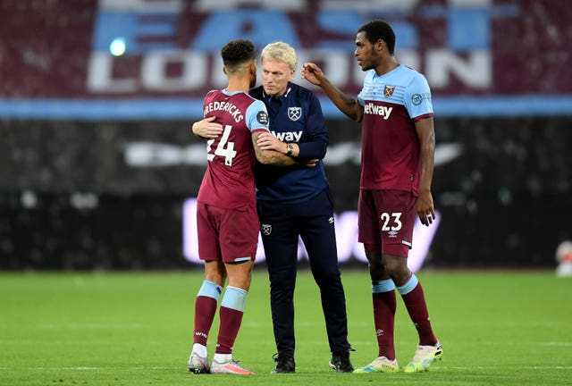 David Moyes' West Ham have taken four points from their last two games (Michael Regan/NMC Pool/PA).