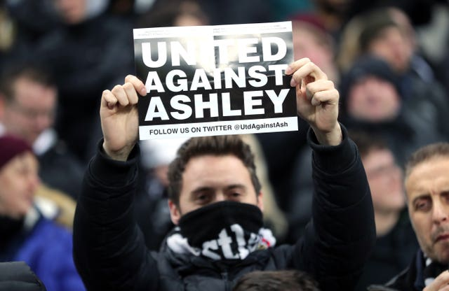Newcastle fans have been at odds with owner Mike Ashley for much of his time at the club