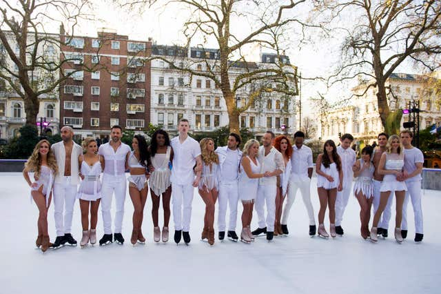 The Dancing On Ice class of 2018 (David Mirzoeff/PA)