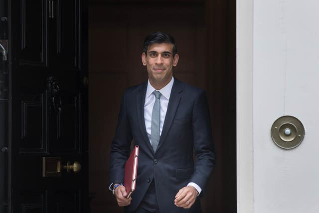 Chancellor Rishi Sunak departs 11 Downing Street to deliver a summer economic update at the Commons