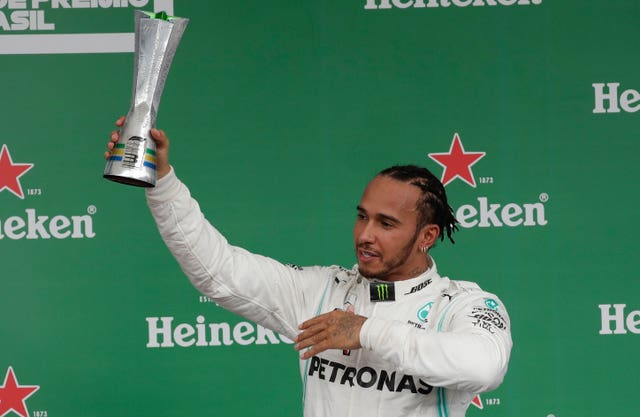 Hamilton's podium placing was short lived