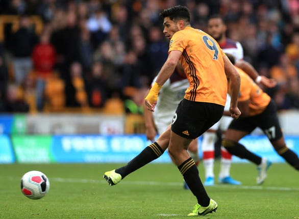 Raul Jimenez got Wolves' equaliser from the penalty spot