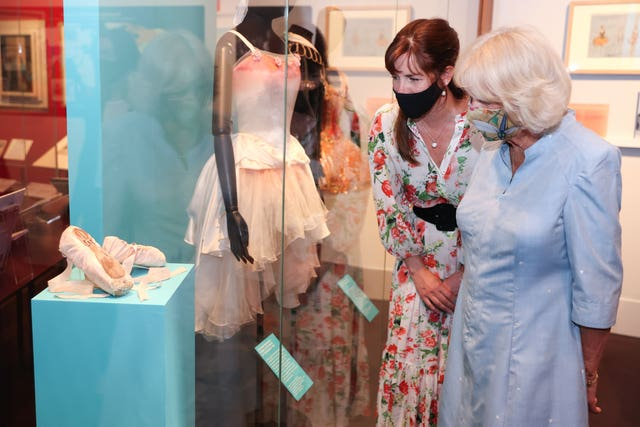Visit of the Duchess of Cornwall to the Royal Academy of Dance exhibition