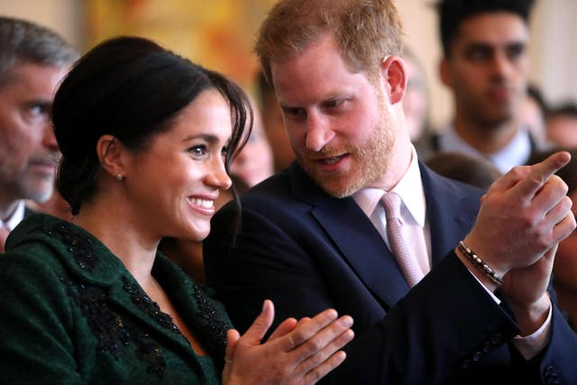 Parents to be Meghan and Harry