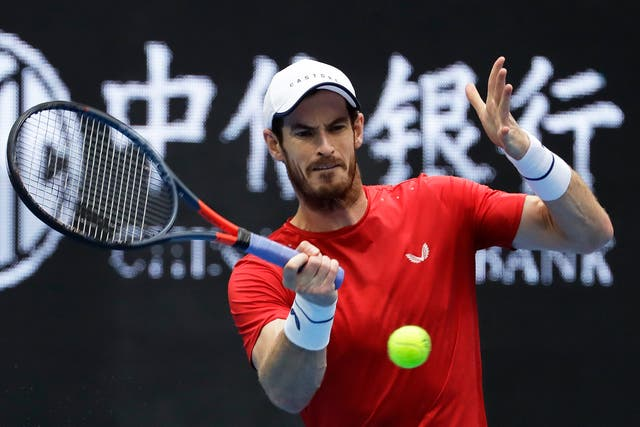 Andy Murray has made a steady return to the singles court