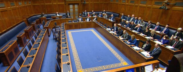 The debating chamber at Stormont