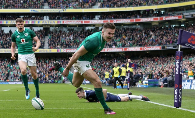 Jacob Stockdale scored two of Ireland's tries in March 2018
