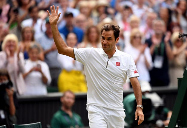 Roger Federer lost to Novak Djokovic in the final at Wimbledon