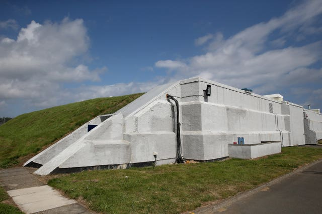 A fortified bunker at GCHQ Scarborough