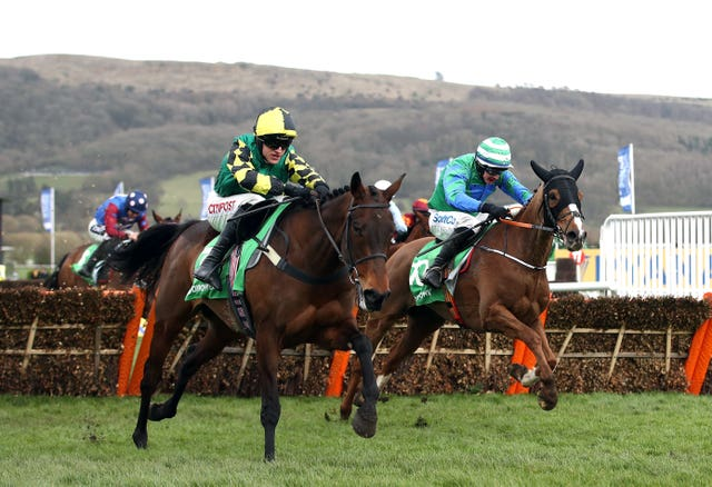 Ronald Pump (right) only found Lisnagar Oscar too good at Cheltenham in March
