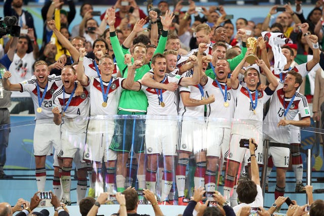 Germany celebrate winning the World Cup in 2014