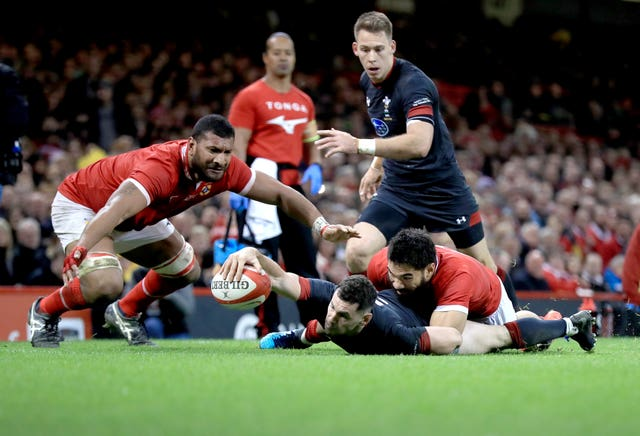 Tonga (pictured playing against Wales) and the Pacific Islands fear their chance to take on top-level opposition could be limited