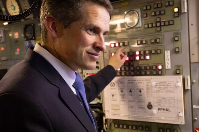 Gavin Williamson visit to HM Naval Base Clyde