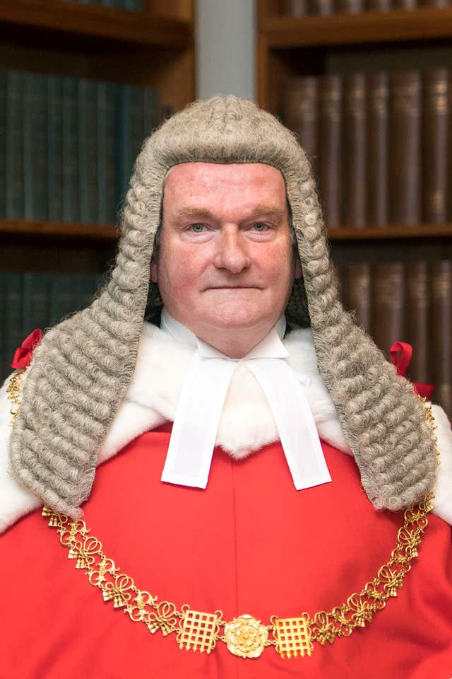 Lord Chief Justice Lord Burnett.