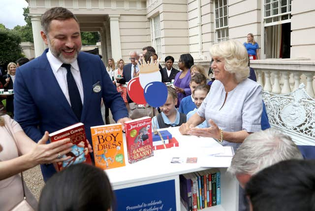 Camilla and David Walliams
