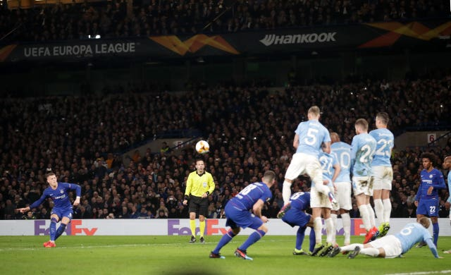 Ross Barkley floated in a fine free-kick