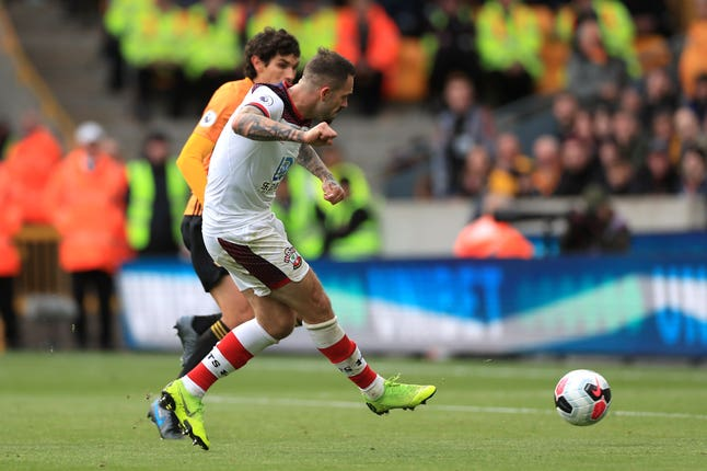 Danny Ings was on target to put Southampton ahead