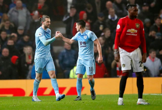 Jay Rodriguez wrapped up Burnley's first win at Old Trafford since 1962 on Wednesday
