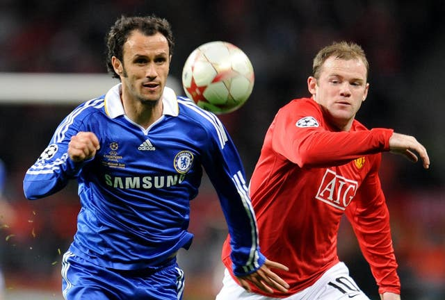Chelsea's Ricardo Carvalho and Manchester United's Wayne Rooney (PA)