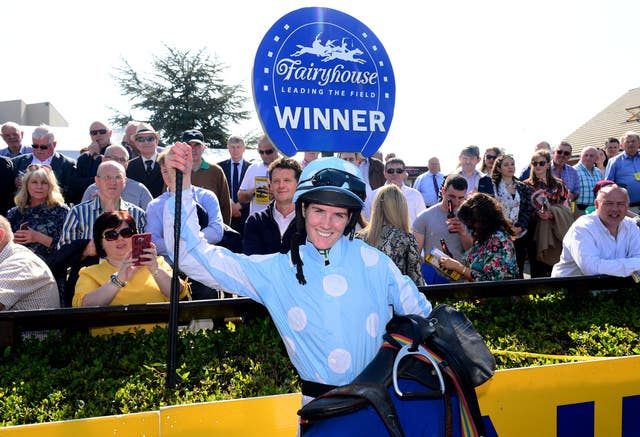 Rachael Blackmore celebrates winning her first Grade One in Ireland after last year's Hatton's Grace