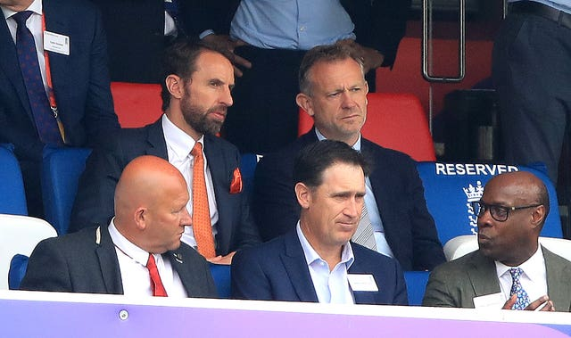 England football manager Gareth Southgate (top left) was in attendance at Lord's.