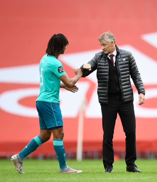 Footage emerged of Ole Gunnar Solskjaer speaking to Nathan Ake after United beat Bournemouth