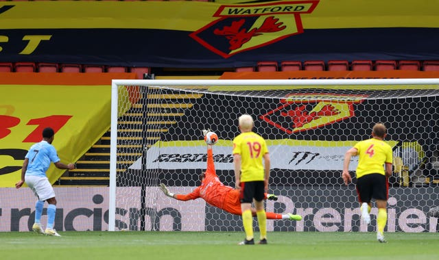 Watford goalkeeper Ben Foster has conceded 12 goals in his last two games against Manchester City