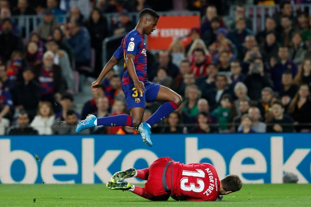 Ansu Fati was flying high at the Nou Camp on Sunday night