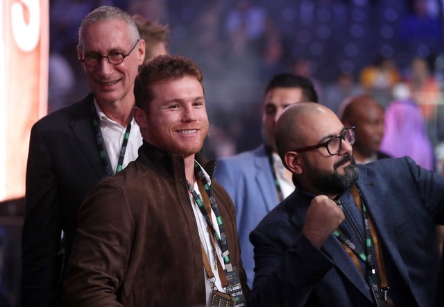 Canelo Alvarez was ringside to watch Joshua take on Ruiz Jnr