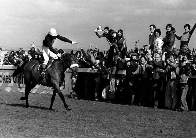 Red Rum brought the house down at Aintree when he won the National for the third time